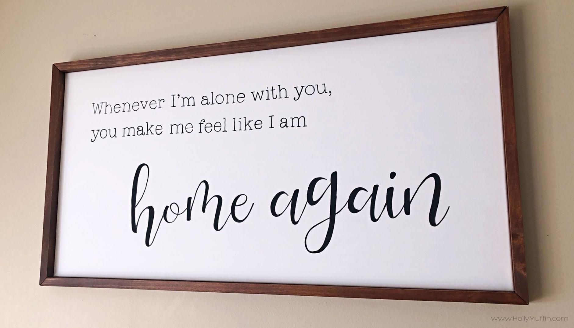 DIY a Farmhouse Wedding Lyric Sign for under $25