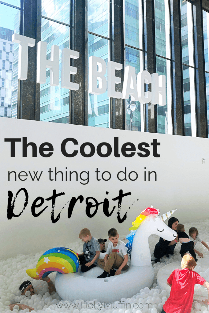 "The coolest new thing to do in Detroit is visit ""The Beach"", a unique ball pit experience for the whole family. #FamilyFun #Travel"