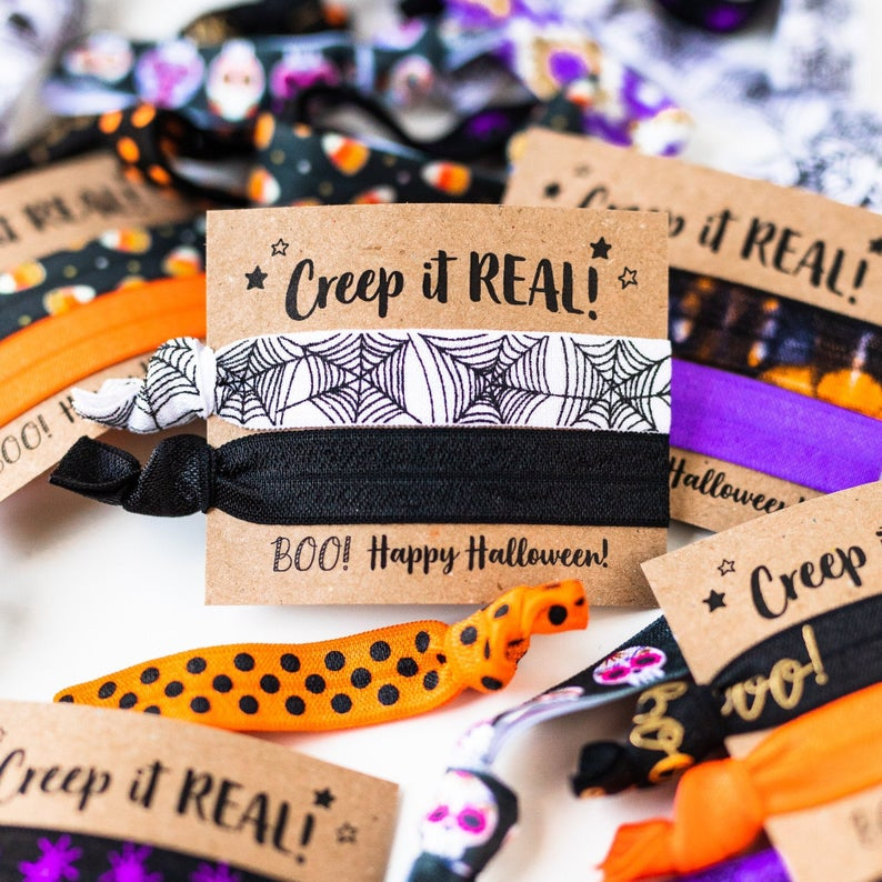 Halloween Hair Tie Party Favors