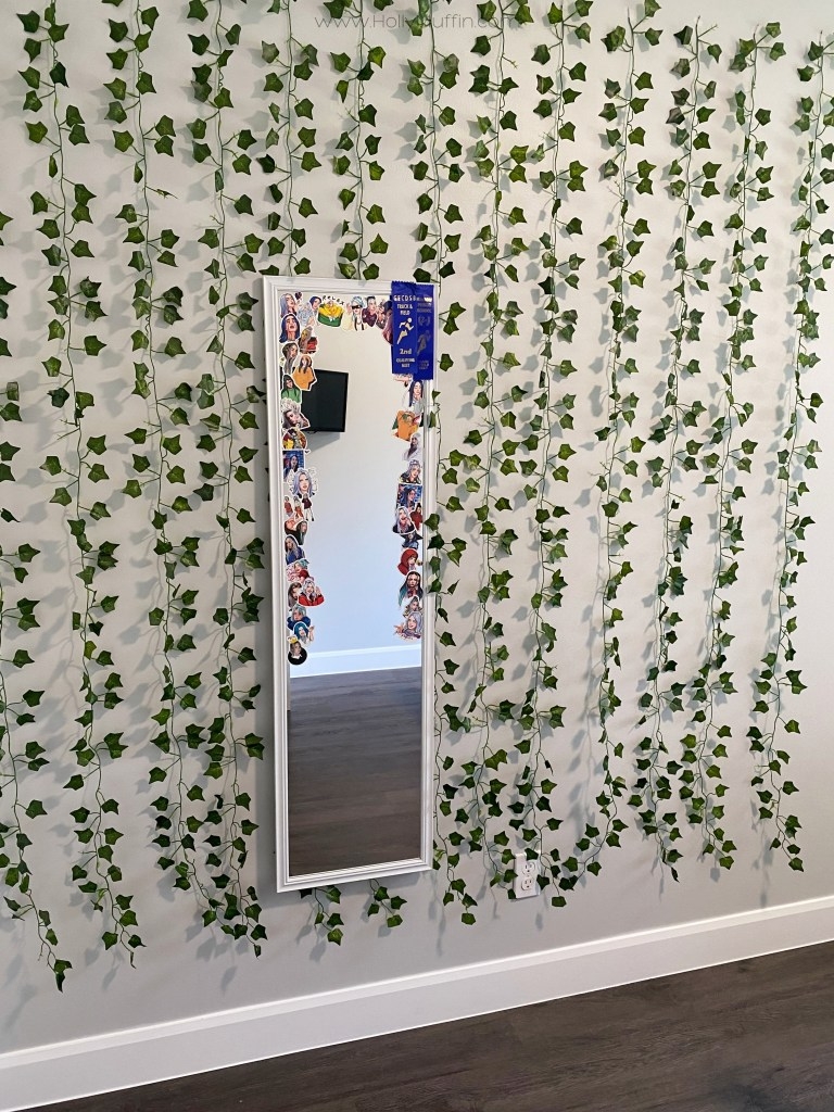 Artificial vine wall for under $30!