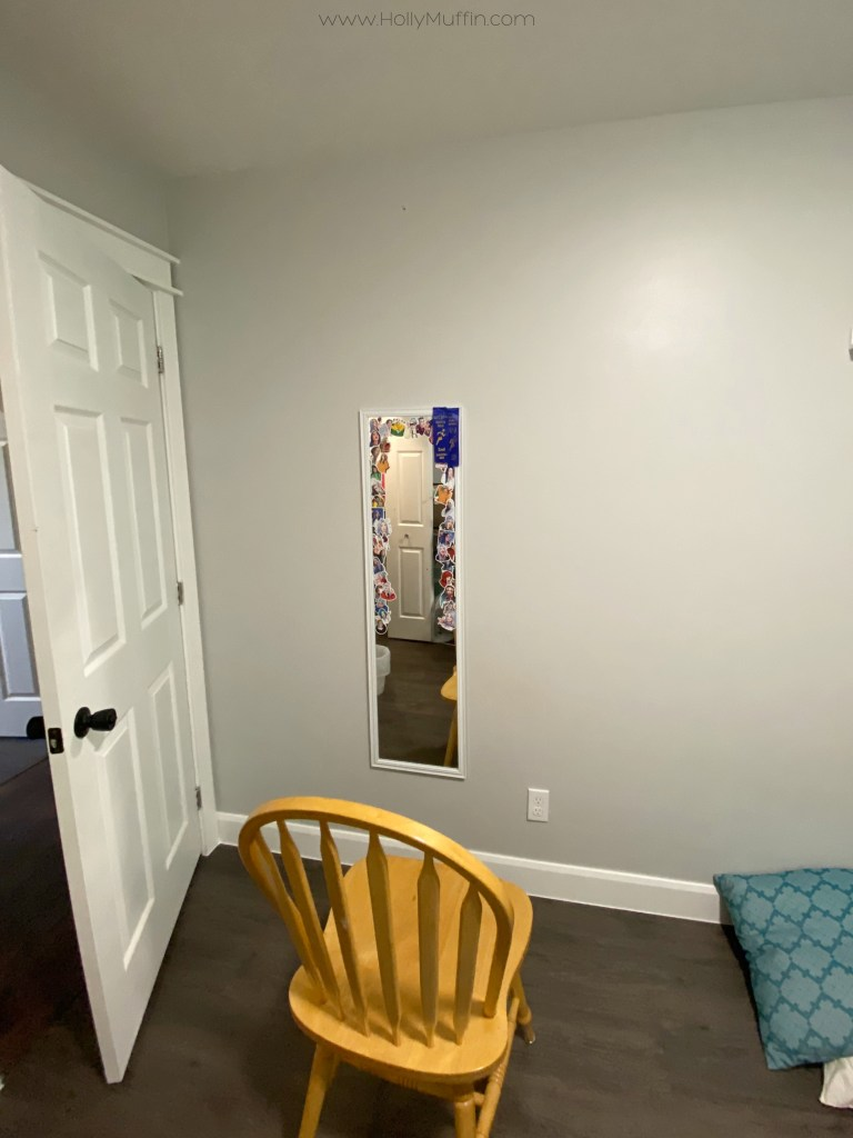 Blank wall with mirror