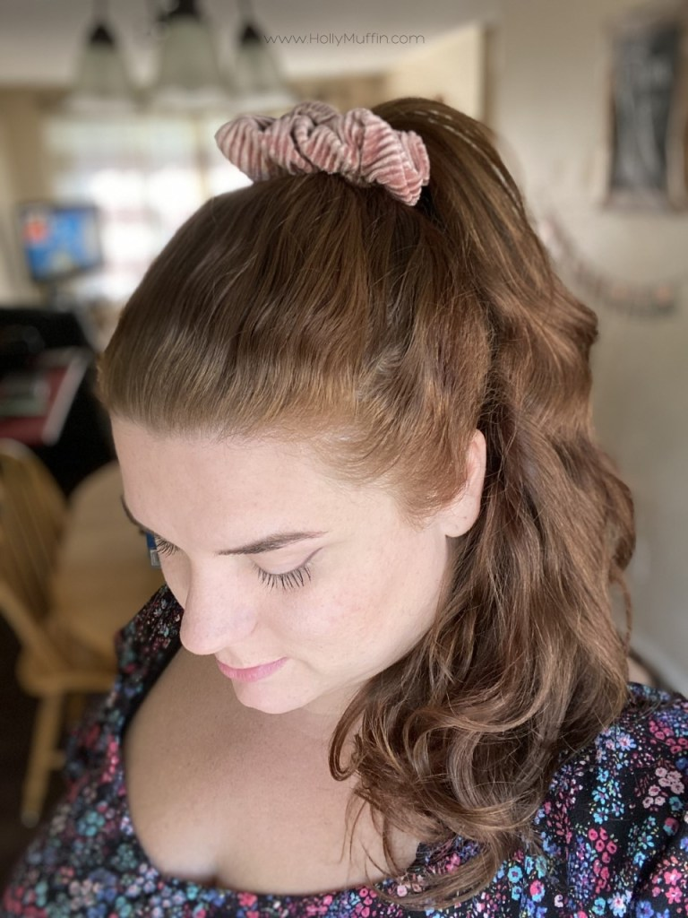 Fall hair goals with scrunch