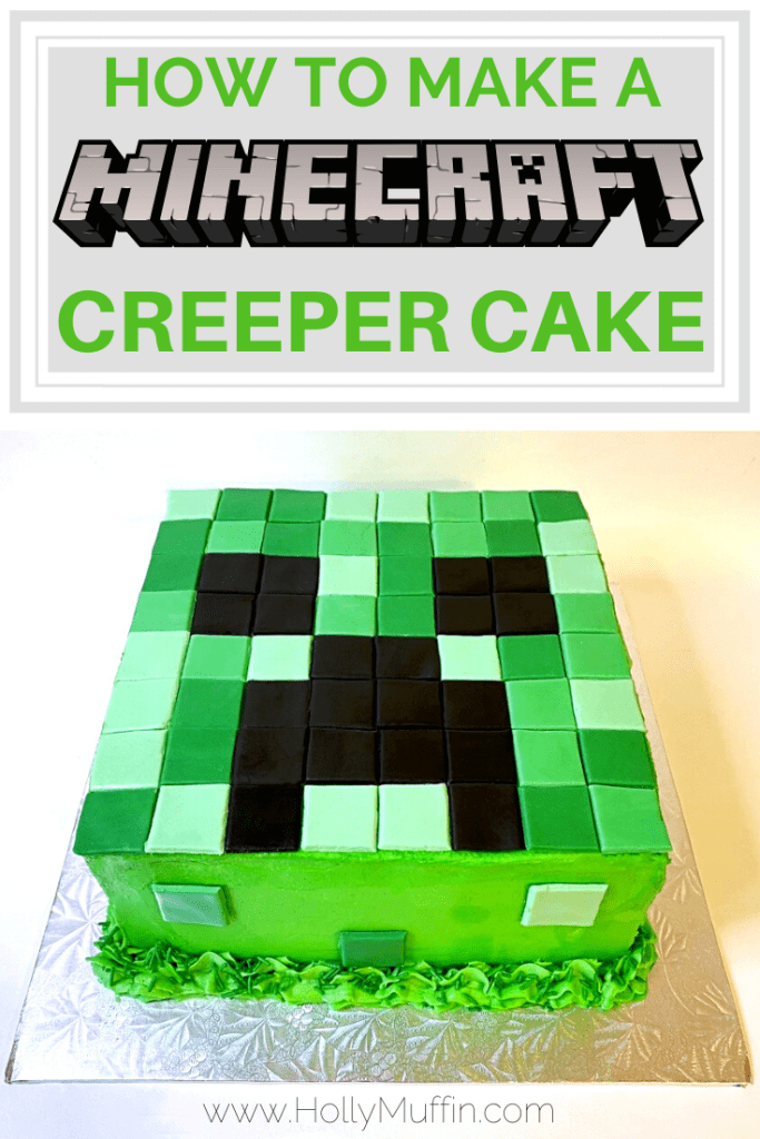 How to make a Minecraft Creeper Cak