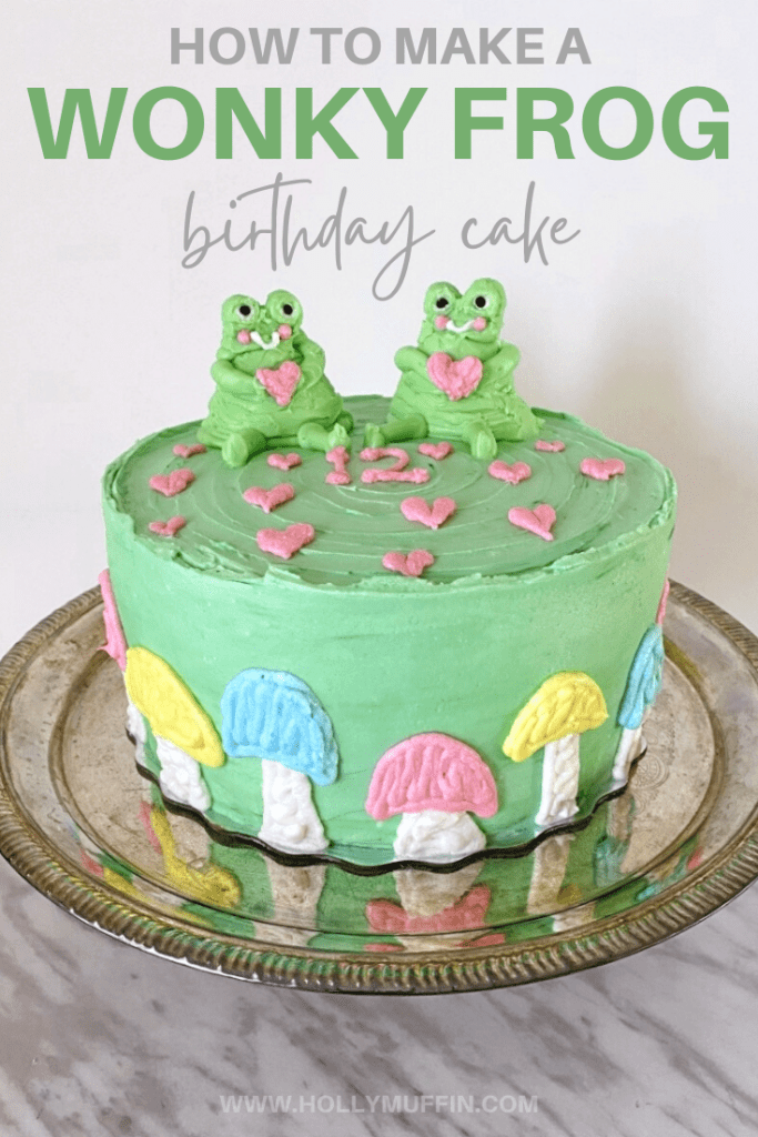 How to make a wonky frog birthday cake!
