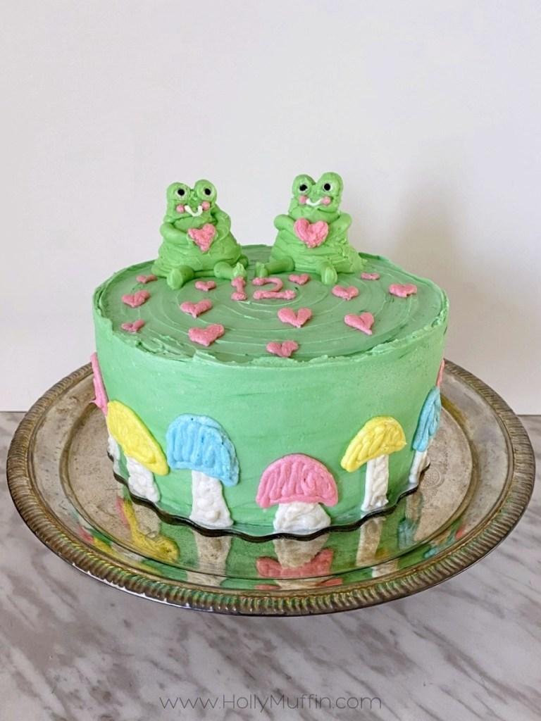 Pastel frog cake