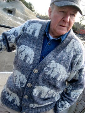 Martin Storey's Elephant Cardigan