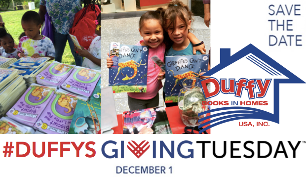Duffy Books Giving Tuesday Helps all Kids to Enjoy Access to Books