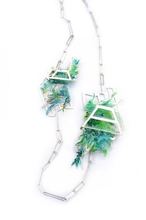 Double Glasshouse Neckpiece - £820