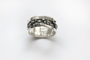 Chunky Granulated Silver Men's Ring
