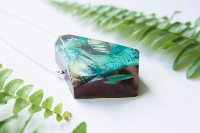 Botanical Gemstone Shard Statement Necklace