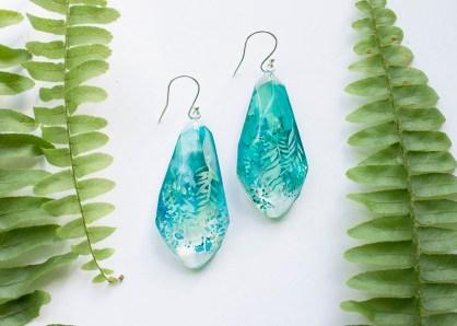 Light Botanical Gemstone Earrings
