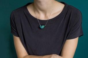 Miniature Botanical Gemstone Necklace