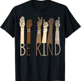 Classic Be Kind Sign Language Hand Talking Teachers Interpreter T-Shirt