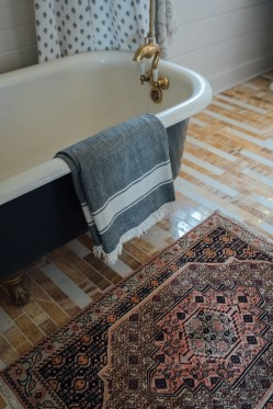 Clawfoot tub and Persian Rug