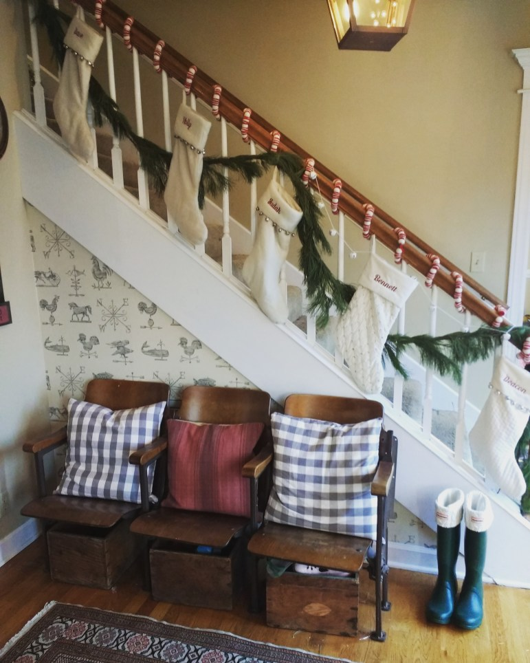decorated banister