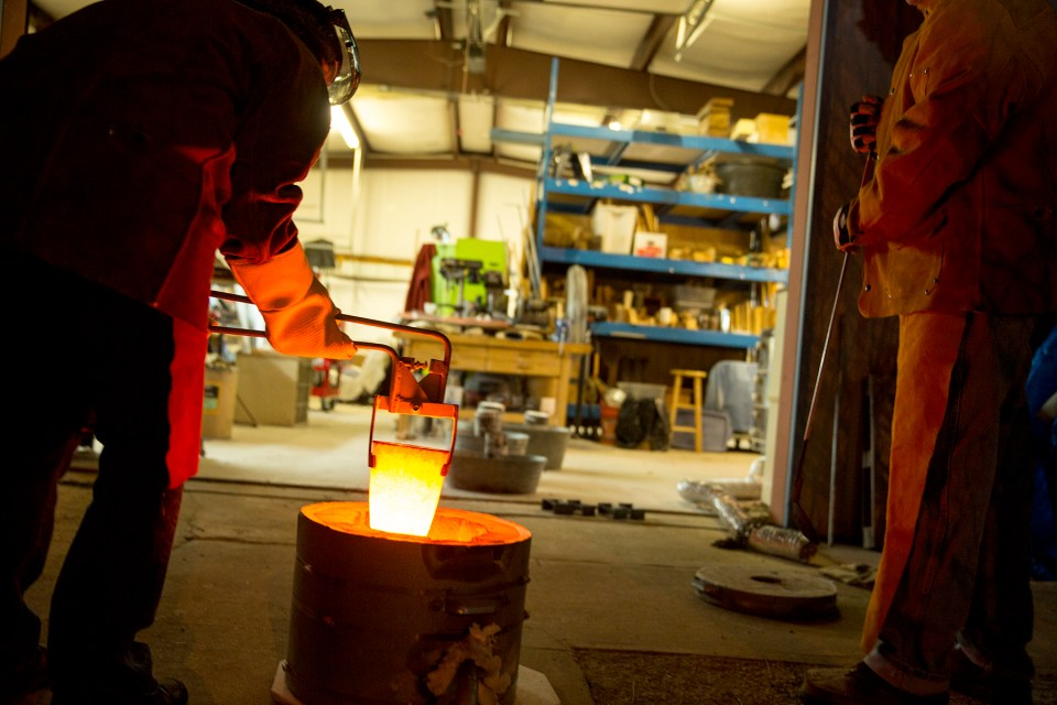 2015-Holly Wilson Bronze Pour