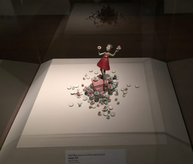 """""""Enough"""" by Holly Wilson. At the Exhibition Conversations: Eiteljorg Museum 2015 Contemporary Art Fellowship."""