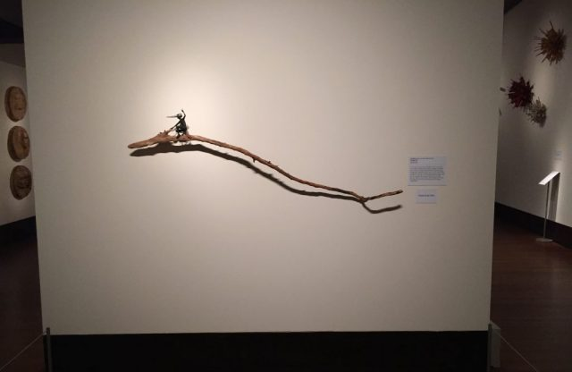 """Rider"" by Holly Wilson. At the Exhibition Conversations: Eiteljorg Museum 2015 Contemporary Art Fellowship."