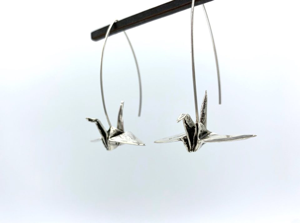 Origami Crane Earrings-Holly Wilson