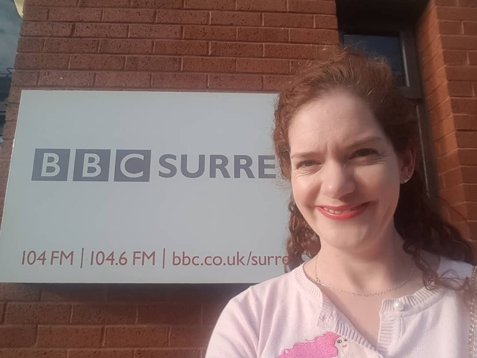 Holly Winter live on BBC Surrey