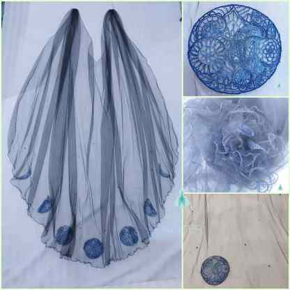 blue moon bridal cape by Holly Winter Couture