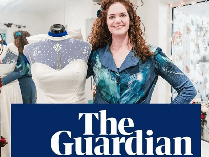 Holly Winter Couture in The Guardian with Anna Tims offering a free wedding dress to NHS brides