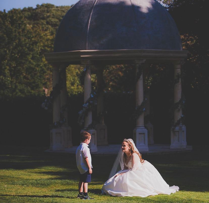 Real bride customer Holly Winter Couture