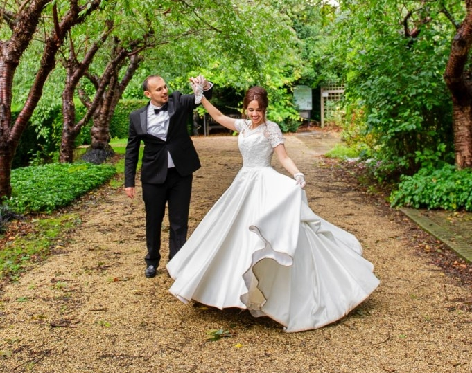 NHS bride in Holly Winter Couture bespoke designed and made to measure wedding dress