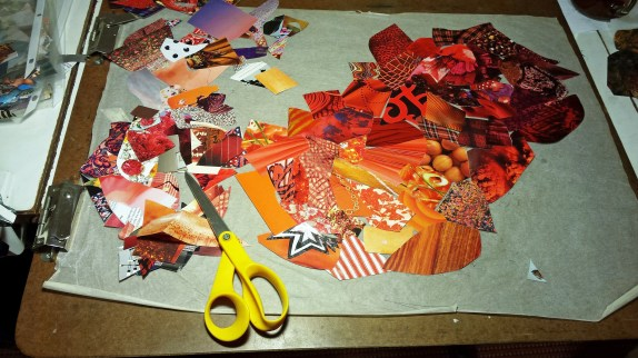 Collage in process