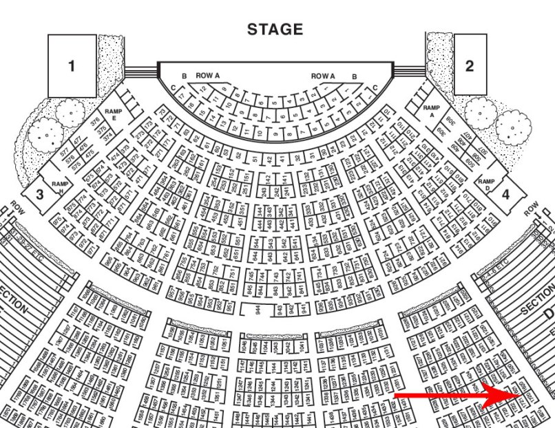 Hollywood bowl seating chart cabinets matttroy for Hollywood bowl terrace 5