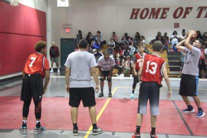 copsvskids3 Friendly game of hoops builds bonds between police, students