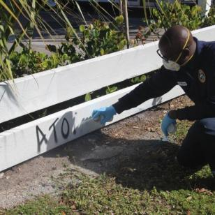 graffiti2 Perry Mason is Hollywood's official 'graffiti buster'
