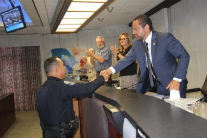 IMG_3542-541x360 Hollywood Police Officer Dwayne Chung receives prestigious Diamond Service Award