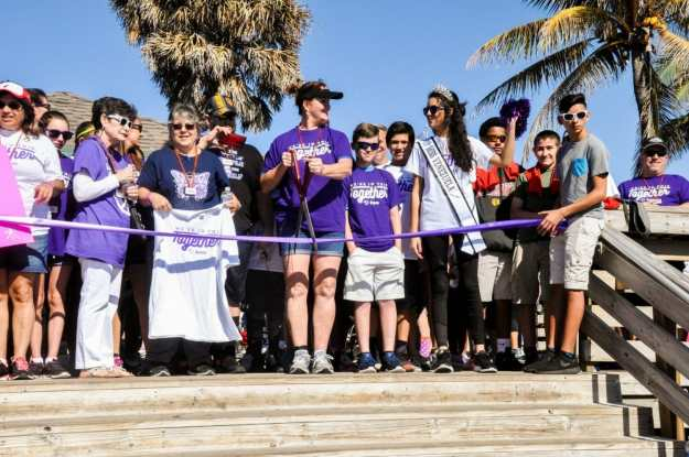 Broward-ribbon-cutting-with-comissioner-karen-harrington Over 800 participants 'walk the talk' for the Epilepsy Foundation on Hollywood Beach