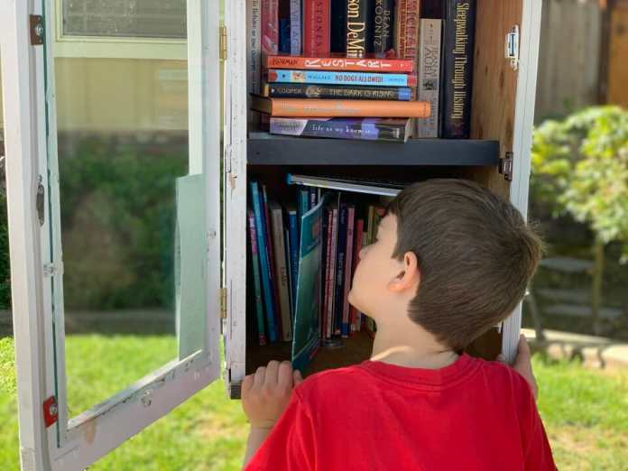 Take the little free library challenge and give a gift to your neighborhood