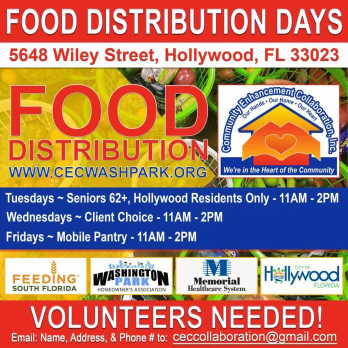 Hollywood organizations providing food for people in need