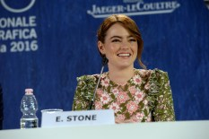 Ms. Emma Stone at the La La Land Press Conference on Augsut 31st, 2016, at the 73rd Venice International Film Festival. (Photo courtesy of ASAC Images/Biennale Cinema))