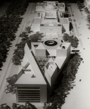 Photograph of National Gallery of Art East Building architectural model
