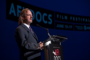 AFI President and CEO Bob Gazzale introduces World Premiere of PERSONAL STATEMENT at AFI DOCS Opening Night. Credit_ Tom Kochel