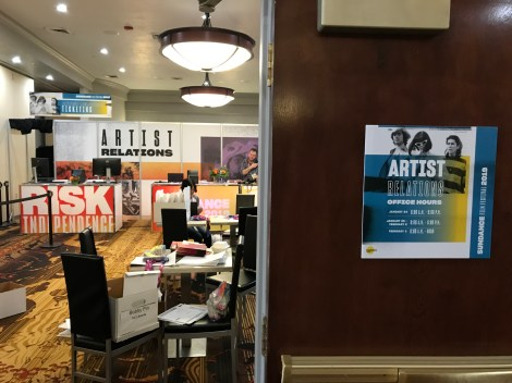 artist Relations inside the Sundance Film Festival Headquarters at the Park City Marriott on January 23, 2019, in Park City, Utah, the day before the opening of the 2019 Sundance Film Festival. (Photo credit: Larry Gleeson/HollywoodGlee)