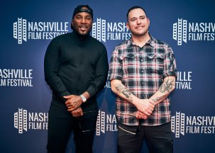 Jeezy and Bubba Sparxxx on the red carpet at the 50th Nashville Film Festival (Photo courtesy of NashFilm)