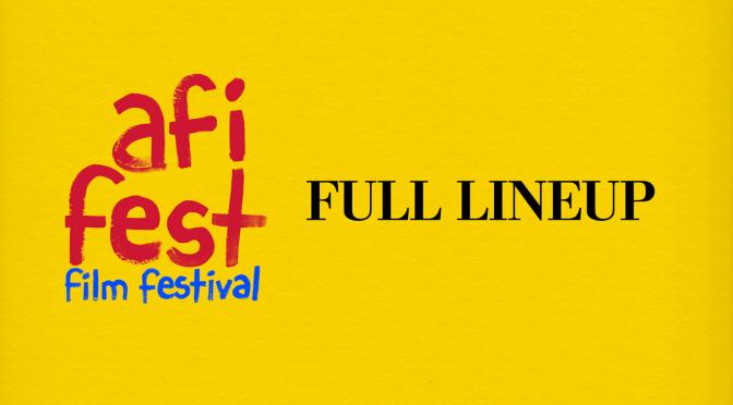 AFI FEST 2021 Lineup Announced