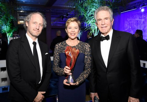 PALM SPRINGS, CA - JANUARY 02: Director Mike Mills, actress Annette Bening and actor Warren Beatty attend the after party for the 28th Annual Palm Springs International Film Festival Film Awards Gala at the Palm Springs Convention Center on January 2, 2017 in Palm Springs, California. (Photo by Frazer Harrison/Getty Images for Palm Springs International Film Festival)