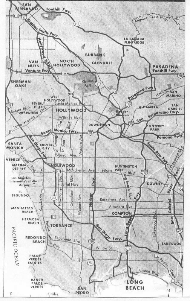 Sunset Strip Map : sunset, strip, Hollywood, Sunset, Strip