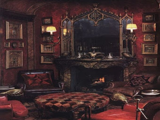 Victorian Gothic Living Room