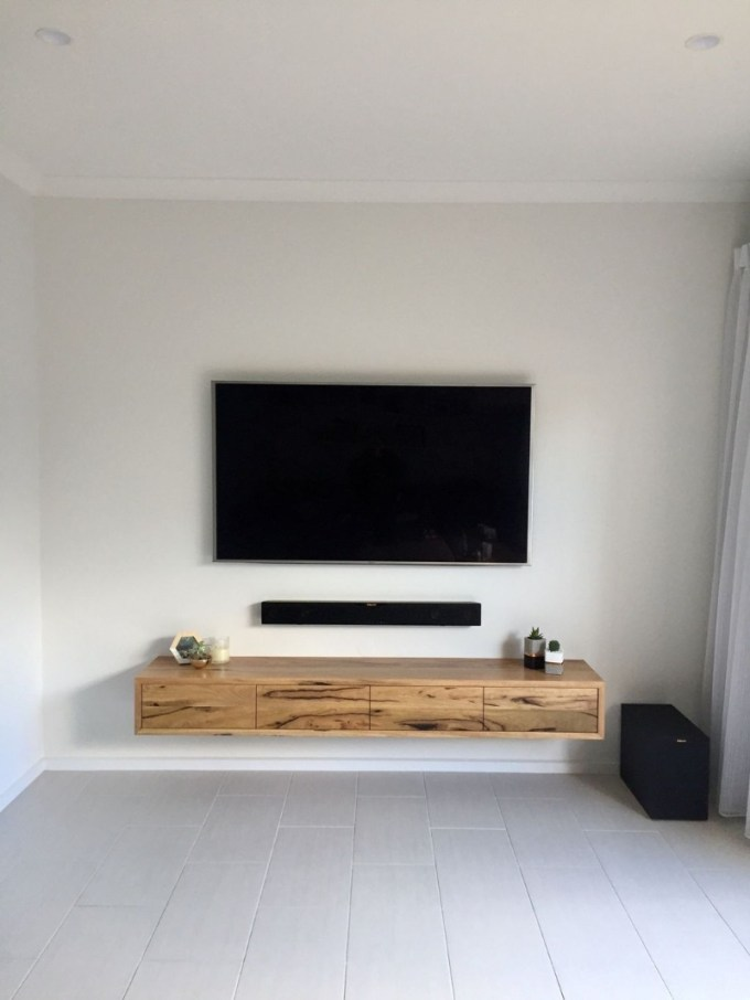 Floating Wood TV Stand
