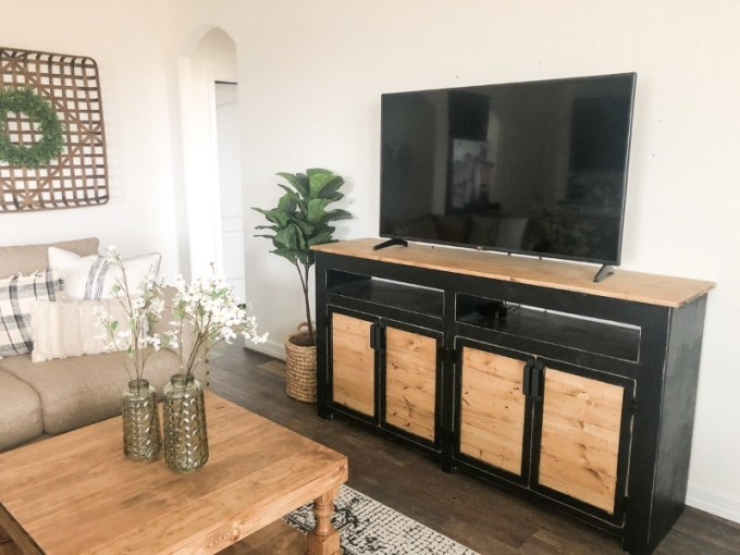 TV Console from an Old Door