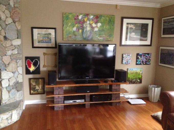 Bricks and Wood TV Stands