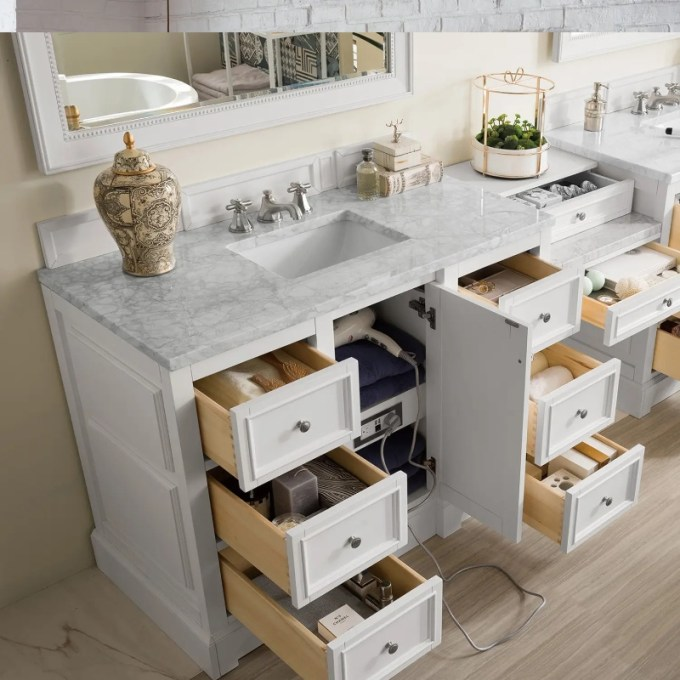 Double Vanity with Makeup Table