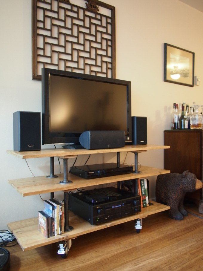 Portable Wood TV Stand